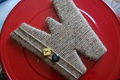 Love this jute wrapped letter.
