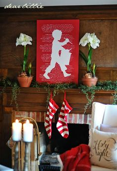 Little Drummer Boy! LOVE THIS! 2013 Christmas House Tour by Dear Lillie