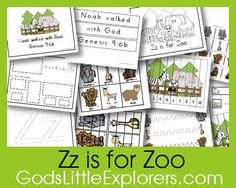Z is for Zoo printable pack (God's Little Explorers preschool)