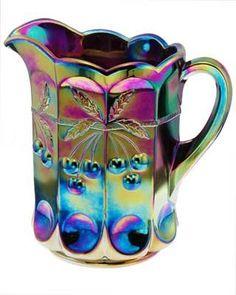 vintag, carnival glass, creamer, amethyst carniv, glasses, carnivals, art, pitcher, carniv glass