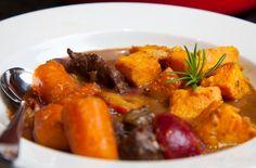 Venison stew venison stew, plums, plum stew, sweet potato