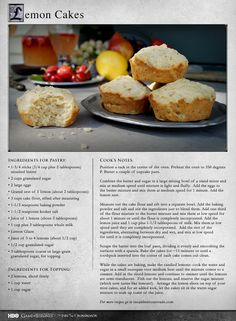 Sansa's favorite! MORE RECIPES: http://itsh.bo/11O9X2E #gameofthrones #lemoncakes #sansa #food #dessert