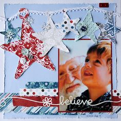 Love this to use up scraps, beautiful picture & stars too!