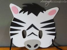 Revamp Homegoods: Kids Crafts: Foam Animal Masks - Zebra