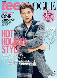 Louis teen vogue cover One Direction, 1D, Harry Styles, Niall Horan, Liam Payne, Zayn Malik, Louis Tomlinson, Hazza, Harreh, Harold, Nialler, DJ Malik, Lou, Tommo .xx