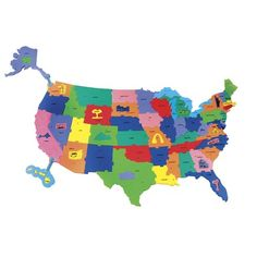 Chenille Kraft Company WonderFoam Giant U.S.A. Activity Puzzle
