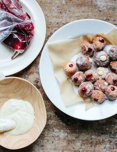 italian cherry doughnuts