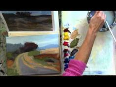 """The Red Tree"" Part 4 - Beginning Step by Step Acrylic Country Road Landscape Painting - YouTube"