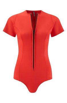 Love this red hot swimsuit   Lisa Marie Fernandez