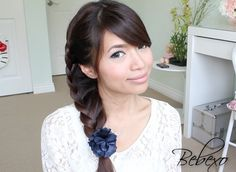 Fancy / Unique side braid - unique, quick, easy, non-heat hairstyle  Tutorial: http://www.youtube.com/watch?v=li3Z4I6Ux3w    Website: http://www.justbebexo.com/hairstyles/137-quick-and-easy-back-to-school-hairstyles-2012