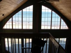 view from the loft looking at Lake Superior