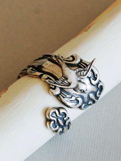 Sparrow Silver Spoon Ring