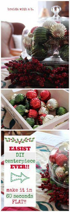 easy christmas table centerpiece breidawithab.com