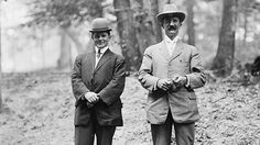 In 1901, following the assassination of President William McKinley, Congress requested that the Service begin providing protection for the Chief Executive. The next year, protecting the president becomes a formal operational role. Pictured, two Secret Service agents at the Roosevelt home in Oyster Bay, N.Y., 1908.