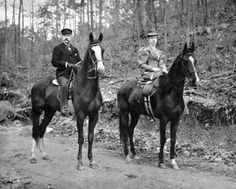 George and Sarah Joslyn ride their favorite horses, Signal Light and Bay Chief, in this photo from the turn of the 20th century. The Joslyns were animal lovers and could often be seen exercising their horses. They also had a St. Bernard named Modjeska. THE WORLD-HERALD