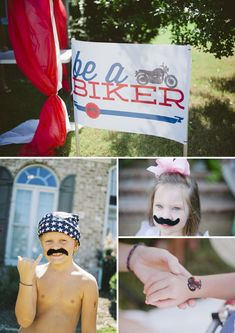 Graham's Motorcyle Themed Birthday Party - On to Baby