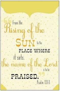 Psalm 133:3