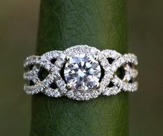 TWIST OF FATE  14k White gold  Diamond by BeautifulPetra on Etsy, $4500.00