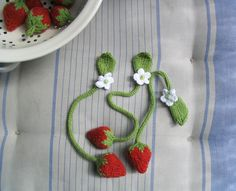 Strawberry bookmarks!