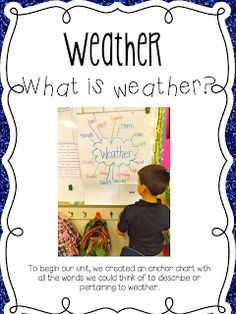 Weather Activities. 1st grade