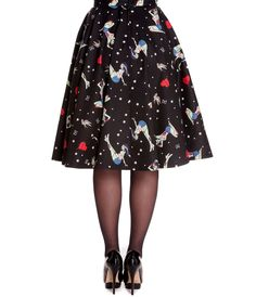 A ghoulishly grand #1950s inspired #rockabilly swing skirt.  #uniquevintage