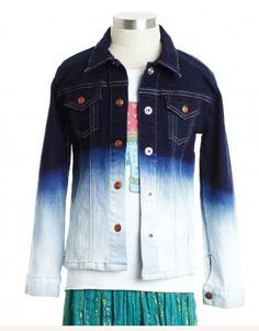 Awesome dip dye ombre jean jacket for kids at Peek.