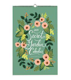 Rifle Paper Co. 2014 Secret Garden Calendar, $26.00