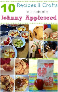 Johnny Appleseed Day is March 11th -- celebrate with these crafts & recipes to make with the kids! :-)