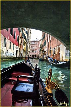 Venice -- took a photo so similar to this one when we were there!  Loved our romantic gondola ride.