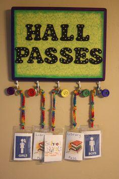 Hall Pass Board