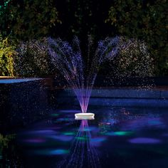 The Floating Lighted Pool Fountain - Hammacher Schlemmer
