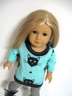 American Girl Doll Clothes Black Cats by 123MULBERRYSTREET on Etsy, $29.00