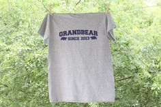 Grandbear or GRANDPA Since Personalized with year - Father's Day Shirt
