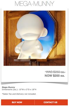 Kidrobot $200 ea. (Sales Tax and Delivery not Included)  Contact designer@marthaangus.com for more details!
