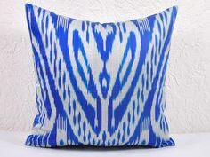 blue IKAT PILLOWS Set of 2 - 16x16 decorative throw Pillow Covers spi105. $39.55, via Etsy. 16x16 decor, decor throw, ikat pillow, blue heaven, blue ikat, pillow covers, throw pillows, blues, pillow set
