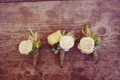 groomsmen, galleries, rose, fabric flowers, butter, rustic style, buttons, floral designs, boutonnieres