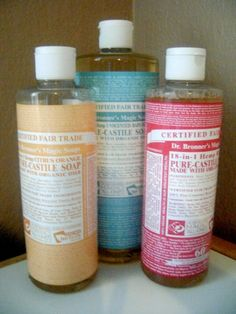 castile soap these are great ideas!