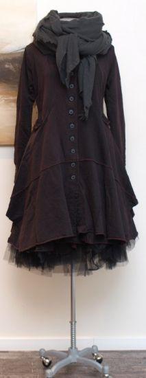rundholz black label - Mantel Sweater rubin - Winter 2014 - stilecht - mode für frauen mit format...