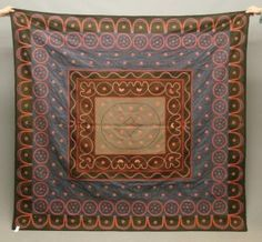 19th c. wool applique quilt