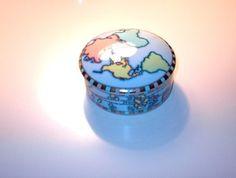 vintage TIFFANY & Co. Porcelain TRINKET Box WORLD Map GLOBE $20 -- SOLD