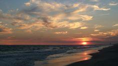 Gorgeous sunset over Ocean Isle Beach, NC