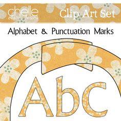 Clip Art: Alphabet and Punctuation Set