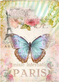 vintag printabl, art journal, paris fabric, idea, decoracion paris, butterflies in art, french, images vintage, printable vintage images