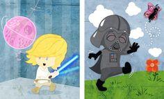 Baby Star Wars wall art