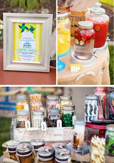 Mason jars and mustache themed party - I don't care if this is for a little boys 1st birthday, I want to do it!