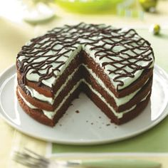 Mint Chocolate Torte Recipe from Taste of Home