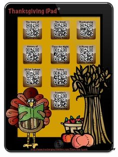 November~Thanksgiving Listening Center with a Twist! Students scan the QR Code and enjoy a story on their device. There are nine stories included! Ex: The Story of Thanksgiving, 'Twas the Night Before Thanksgiving and 7 more! Engaging and Fun!