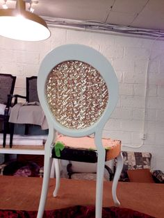 Reilly's sequin backed side chair