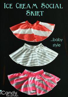 Ice Cream Social Skirt...baby style - iCandy handmade