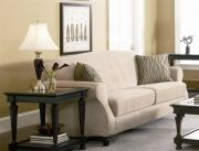 Bradford Sofa Beige Chenille Fabric Upholstered Couch